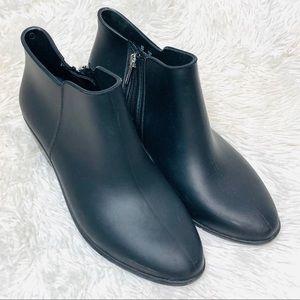 Sam Edelman Black Petty Rain Rubber Ankle Booties